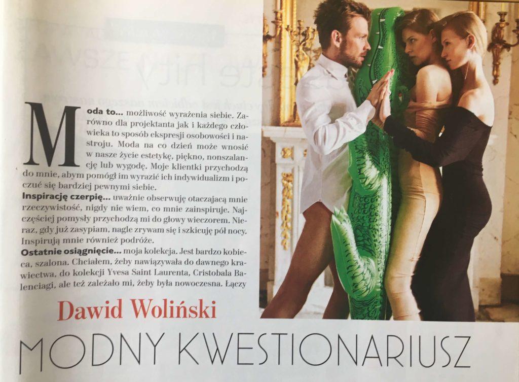 Kampania reklamowa Dawida Wolińskiego w Łazienkach Królewskich