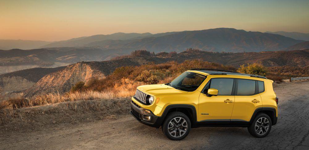Reklama Jeep Renegade w kolorze Solar Yellow